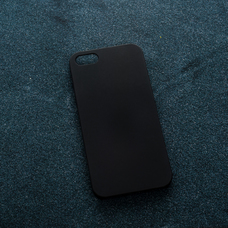 Черный soft-touch чехол для УФ печати для Apple iPhone 5/5S/SE