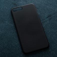 Черный soft-touch чехол для УФ печати для Apple iPhone 7 Plus