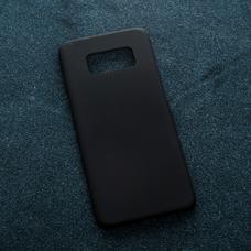 Черный soft-touch чехол для УФ печати для Samsung Galaxy S8