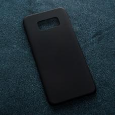 Черный soft-touch чехол для УФ печати для Samsung Galaxy S8 Plus
