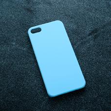 Голубой soft-touch чехол для УФ печати для Apple iPhone 5/5S/SE