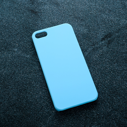 Голубой soft-touch чехол для УФ печати Apple iPhone 5/5S/SE