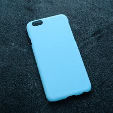 Голубой soft-touch чехол для УФ печати для Apple iPhone 6/6S