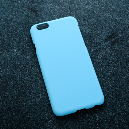 Голубой soft-touch чехол для УФ печати Apple iPhone 6/6S