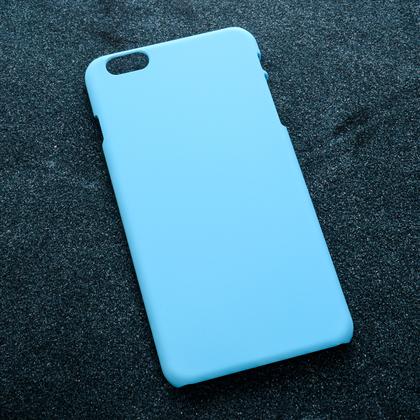 Голубой soft-touch чехол для УФ печати Apple iPhone 6 Plus