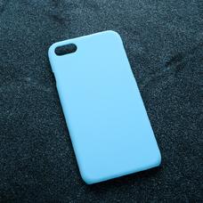 Голубой soft-touch чехол для УФ печати для Apple iPhone 7