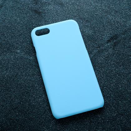 Голубой soft-touch чехол для УФ печати Apple iPhone 7