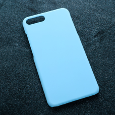 Голубой soft-touch чехол для УФ печати для Apple iPhone 7 Plus