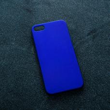 Синий soft-touch чехол для УФ печати для Apple iPhone 5/5S/SE