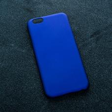 Синий soft-touch чехол для УФ печати для Apple iPhone 6/6S