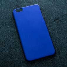Синий soft-touch чехол для УФ печати для Apple iPhone 6 Plus