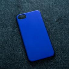 Синий soft-touch чехол для УФ печати для Apple iPhone 7
