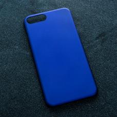 Синий soft-touch чехол для УФ печати для Apple iPhone 7 Plus