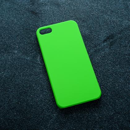 Зеленый soft-touch чехол для УФ печати Apple iPhone 5/5S/SE