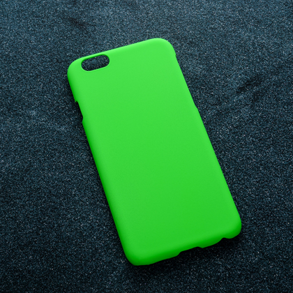 Зеленый soft-touch чехол для УФ печати Apple iPhone 6/6S