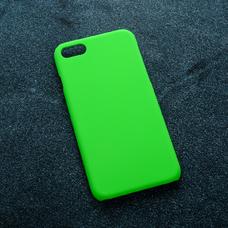 Зеленый soft-touch чехол для УФ печати для Apple iPhone 7