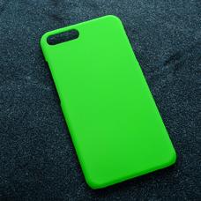 Зеленый soft-touch чехол для УФ печати для Apple iPhone 7 Plus