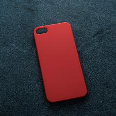 Красный soft-touch чехол для УФ печати для Apple iPhone 5/5S/SE