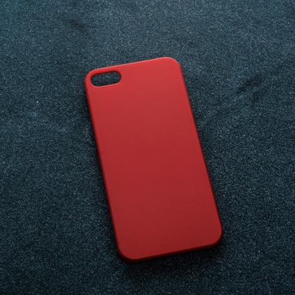 Красный soft-touch чехол для УФ печати Apple iPhone 5/5S/SE