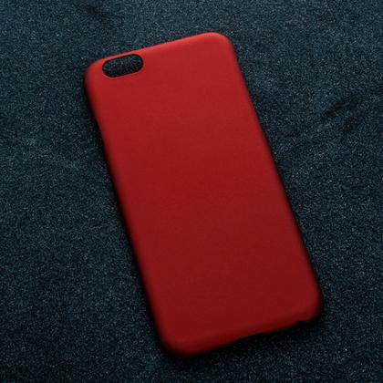 Красный soft-touch чехол для УФ печати Apple iPhone 6/6S