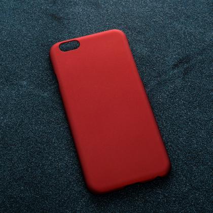 Красный soft-touch чехол для УФ печати Apple iPhone 6 Plus