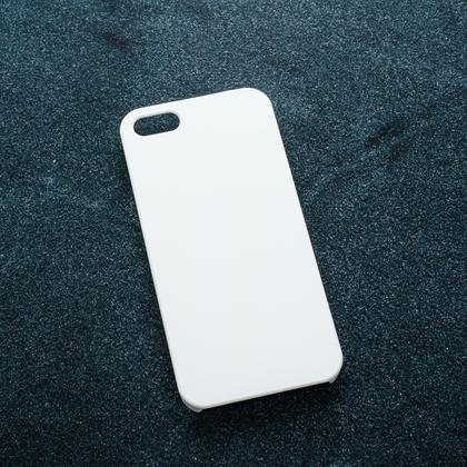 Белый soft-touch чехол для УФ печати Apple iPhone 5/5S/SE