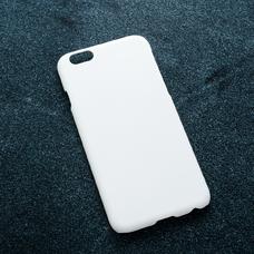 Белый soft-touch чехол для УФ печати для Apple iPhone 6/6S
