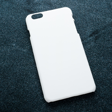 Белый soft-touch чехол для УФ печати для Apple iPhone 6 Plus