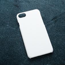 Белый soft-touch чехол для УФ печати для Apple iPhone 7