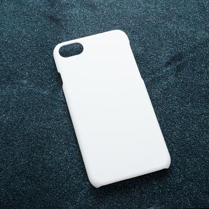 Белый soft-touch чехол для УФ печати Apple iPhone 7