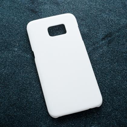 Белый soft-touch чехол для УФ печати Samsung Galaxy S7 Edge