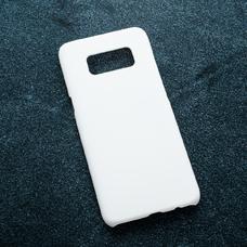 Белый soft-touch чехол для УФ печати для Samsung Galaxy S8