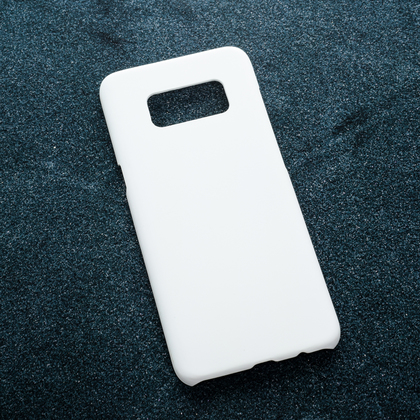 Белый soft-touch чехол для УФ печати Samsung Galaxy S8