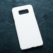 Белый soft-touch чехол для УФ печати для Samsung Galaxy S8 Plus