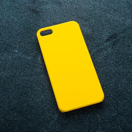 Желтый soft-touch чехол для УФ печати Apple iPhone 5/5S/SE