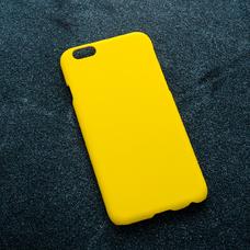 Желтый soft-touch чехол для УФ печати для Apple iPhone 6/6S