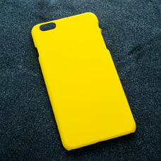 Желтый soft-touch чехол для УФ печати для Apple iPhone 6 Plus