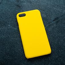 Желтый soft-touch чехол для УФ печати для Apple iPhone 7