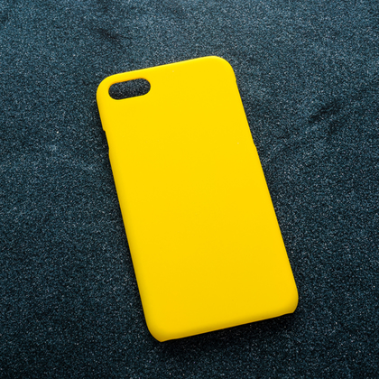Желтый soft-touch чехол для УФ печати Apple iPhone 7