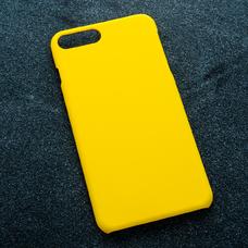 Желтый soft-touch чехол для УФ печати для Apple iPhone 7 Plus