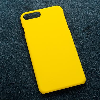Желтый soft-touch чехол для УФ печати Apple iPhone 7 Plus