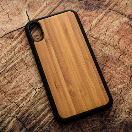 Деревянный чехол из бамбука для УФ печати Apple iPhone X