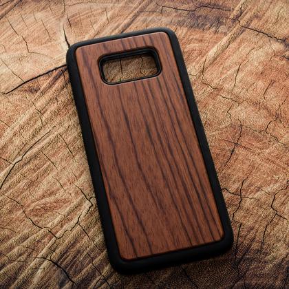 Деревянный чехол из палисандра для УФ печати Samsung Galaxy S8