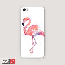 Диз. Акварельный фламинго