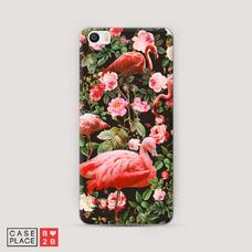 Диз. Цветы и фламинго