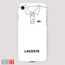 Диз. Lacoste белое поло