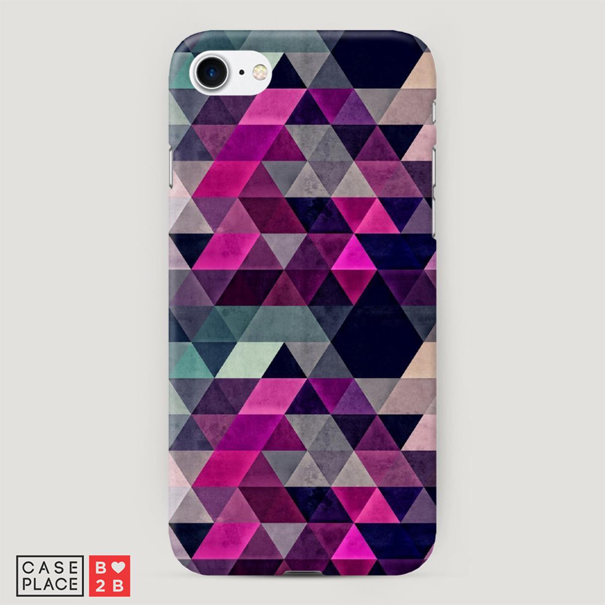 Чехол Фиолетово-синие ромбики с 3D сублимацией оптом