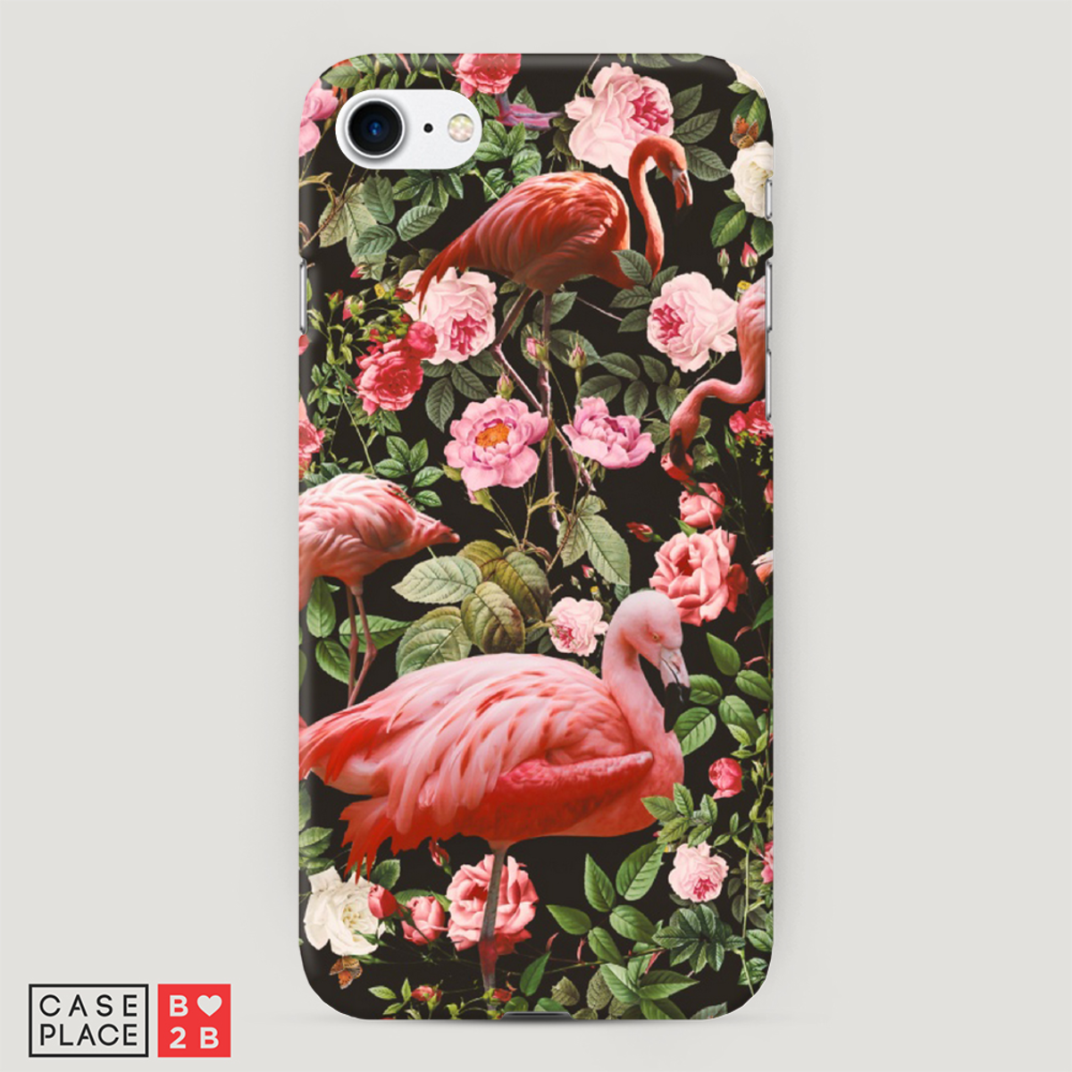 Чехол Цветы и фламинго с 3D сублимацией оптом
