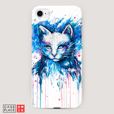 Диз. Кот синяя краска
