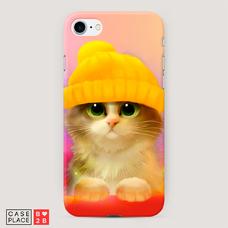 Диз. Котенок в желтой шапке